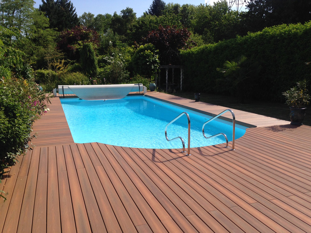Empreinte bois for Terrasse piscine composite